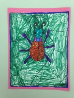 Big Beetles Marker Drawing 2