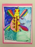 Big Beetles Marker Drawing 3