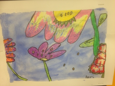 Big Flowers 2 Oil Pastel Grade 1