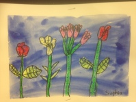 Big Flowers 2 Oil Pastel Resist Grade 1