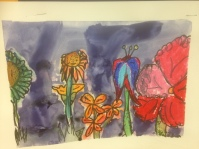 Big Flowers Oil Pastel Grade 5