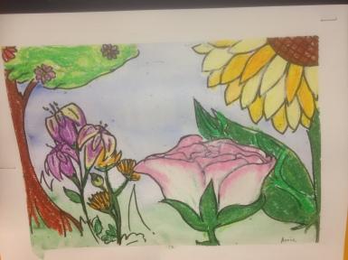 Big Flowers Oil Pastel Grade 6