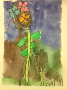 Big Flowers Oil Pastel Resist Grade 1