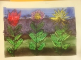 Big Flowers Oil Pastel Resist Grade 2