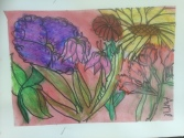 Big Flowers Oil Pastel Resist Grade 7